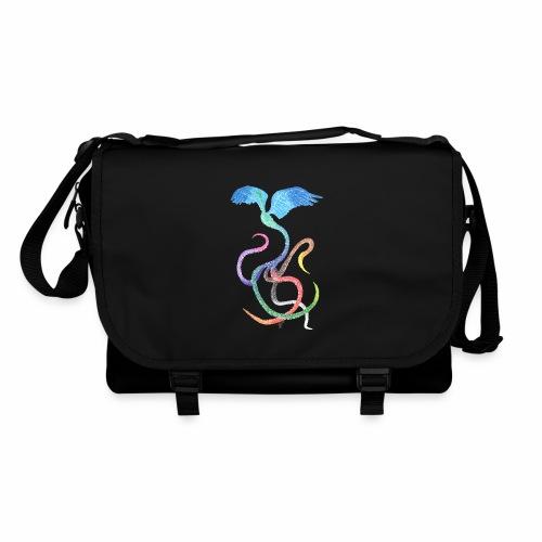 Graceful - Rainbow Bird in Ink - Shoulder Bag