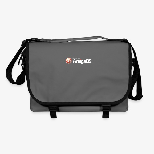PoweredByAmigaOS white - Shoulder Bag