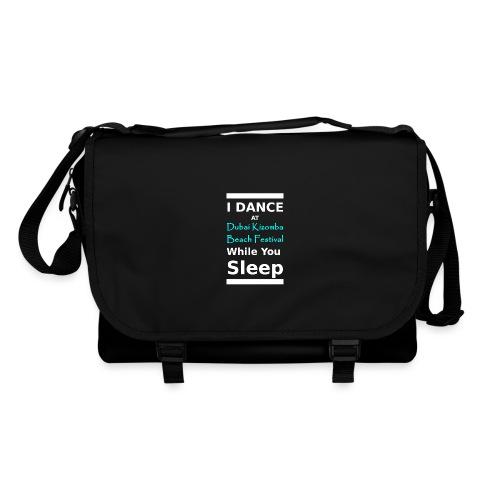 I dance while you sleep white text - Shoulder Bag