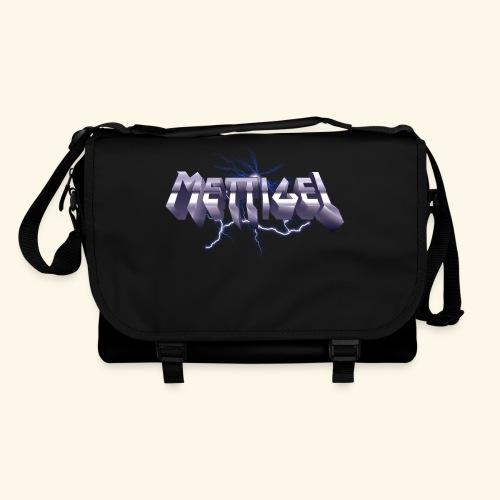 Mettigel T Shirt Design Heavy Metal Schriftzug - Umhängetasche