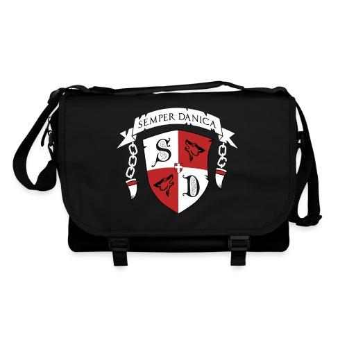 SD logo - hvide lænker - Skuldertaske