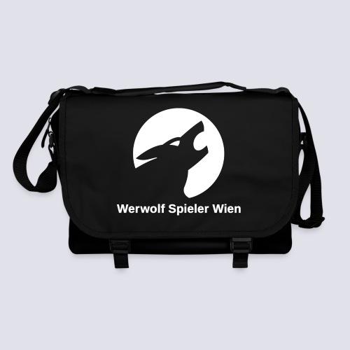 Werwolf Logo weiß + Schriftzug - Umhängetasche