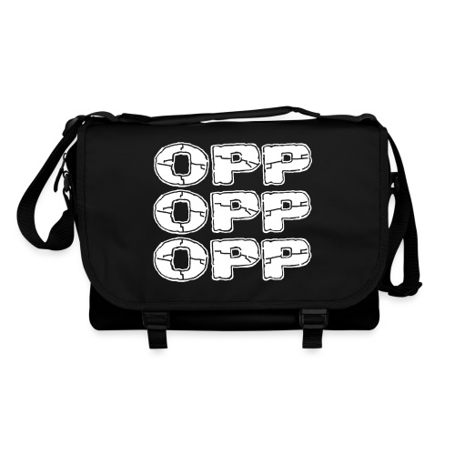 OPP Logo White - Olkalaukku