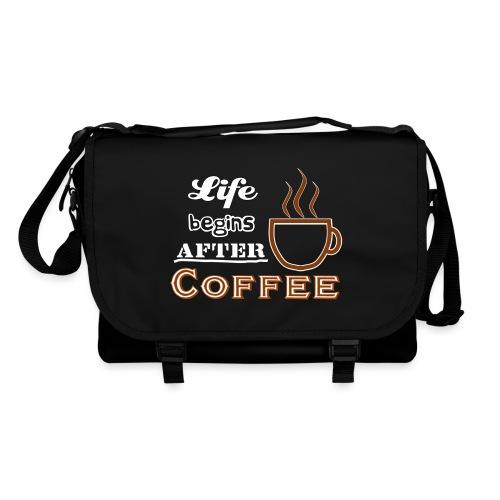 Life begins after Coffee4 - Umhängetasche