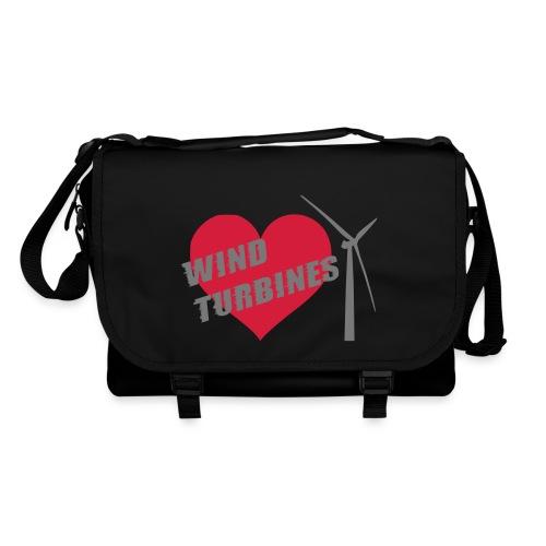 wind turbine grey - Shoulder Bag