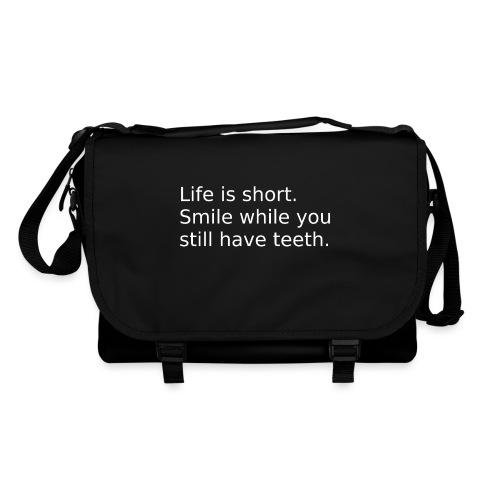 Das Leben ist kurz. Lächle. - Umhängetasche