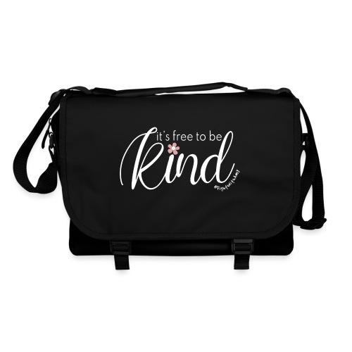 Amy's 'Free to be Kind' design (white txt) - Shoulder Bag