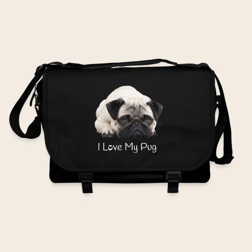 love my pug 2 - Umhängetasche