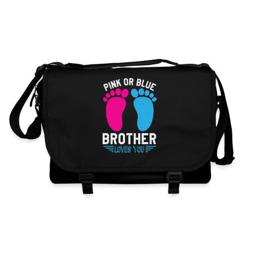 Pink or blue brother loves you - Umhängetasche