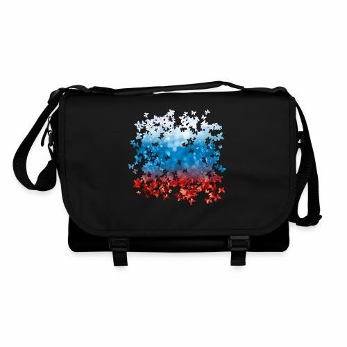 06 Russland Flagge Fahne Russia Schmetterlinge - Umhängetasche