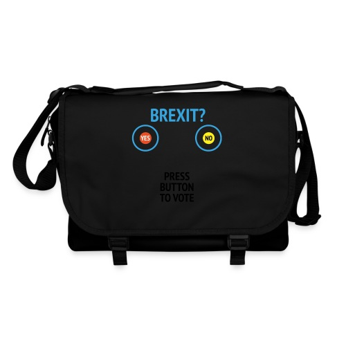 Brexit: Press Button To Vote - Skuldertaske