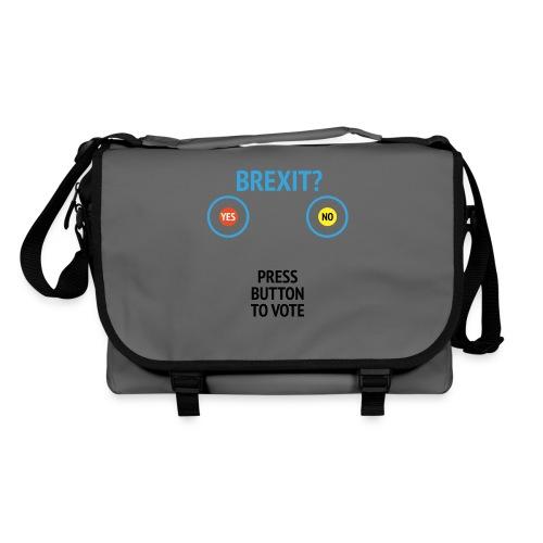 Brexit: Press Button To Vote - Skuldertaske