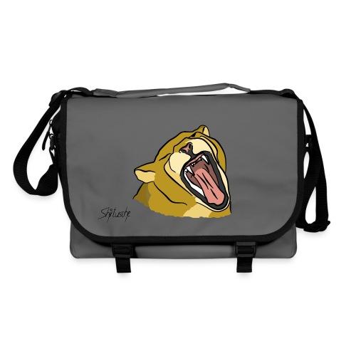 Gähnender / brüllender Löwe - Umhängetasche