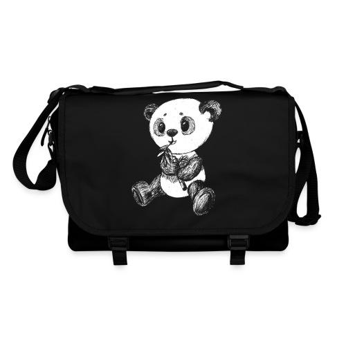 Panda bjørn hvid scribblesirii - Skuldertaske
