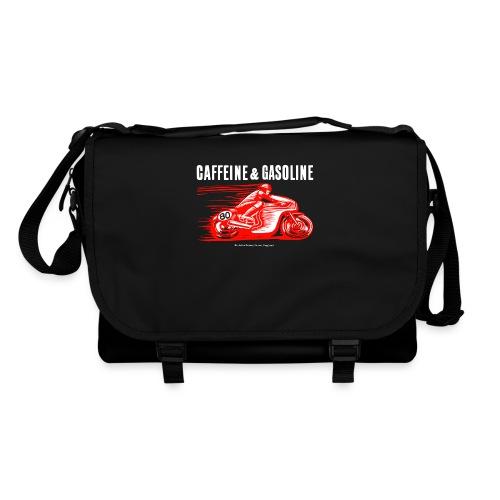 Caffeine & Gasoline white text - Shoulder Bag