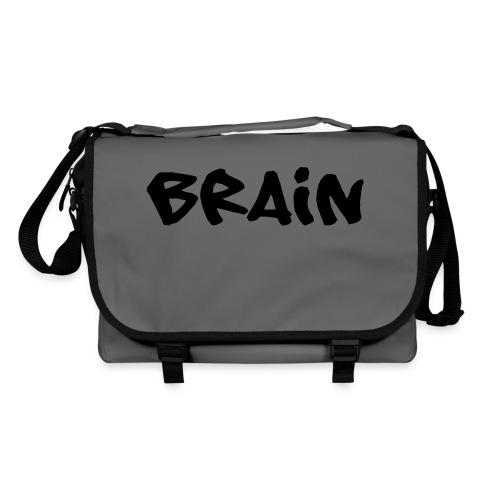 brain schriftzug - Umhängetasche