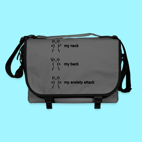 neck back anxiety attack - Shoulder Bag