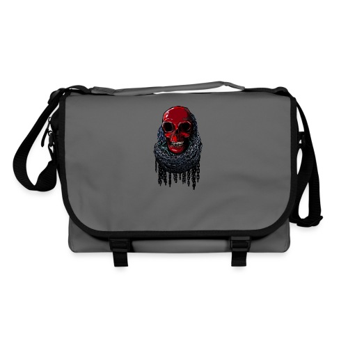 RED Skull in Chains - Shoulder Bag