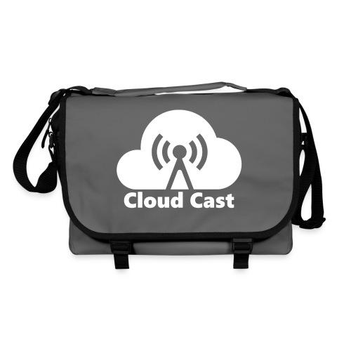 Cloud Cast White mit Schriftzug - Umhängetasche