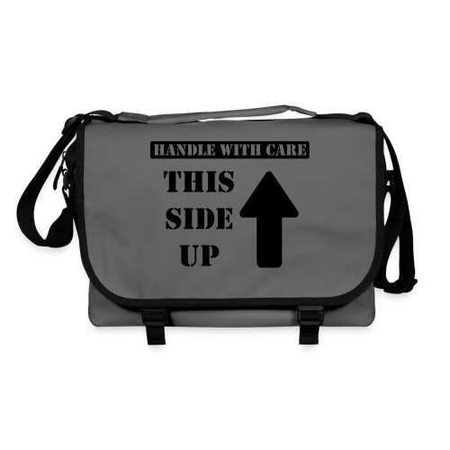 Handle with care / This side up - PrintShirt.at - Umhängetasche