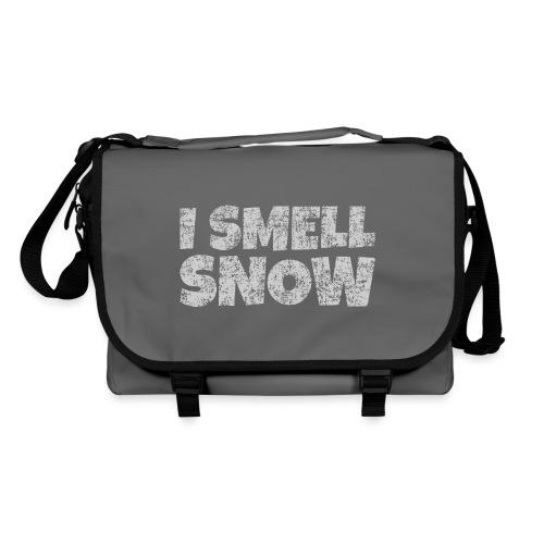I Smell Snow (Grau) Schnee, Winter, Wintersport - Umhängetasche