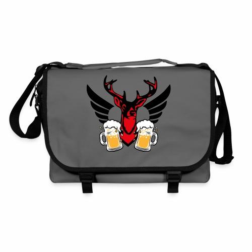 08 Zwei Mass Bier stolzer Hirsch mit Flügel - Umhängetasche