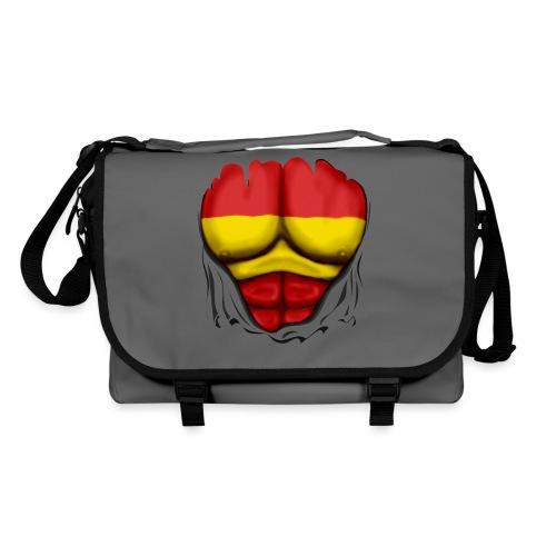 España Flag Ripped Muscles six pack chest t-shirt - Shoulder Bag