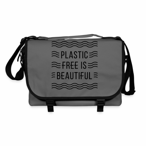 Plastic free is beautiful - Umhängetasche