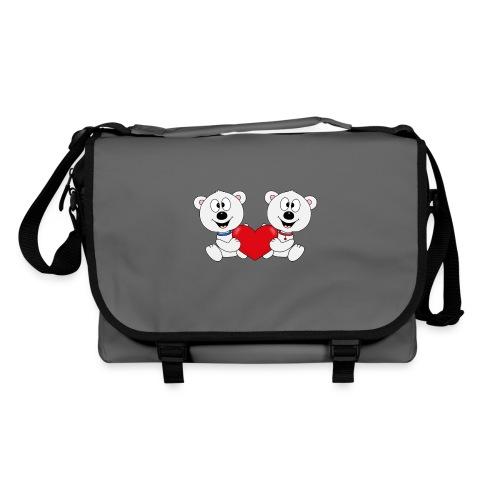 Lustige Eisbären - Herz - Liebe - Love - Fun - Umhängetasche