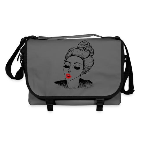 Vintage Retro Girl Kiss message - Shoulder Bag