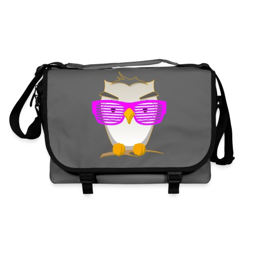 Eule Wald Vogel coole Nerdbrille Geek Big Bang Uhu - Shoulder Bag