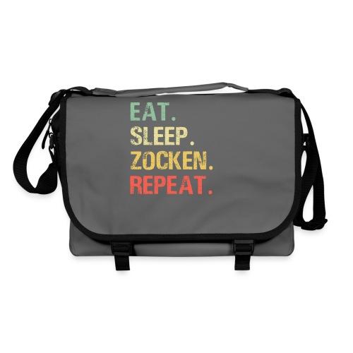Eat sleep zocken repeat Gaming Gamer Zocker - Umhängetasche