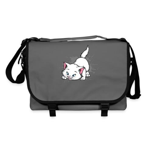 Katze Splash Pfützen Sprung - Umhängetasche