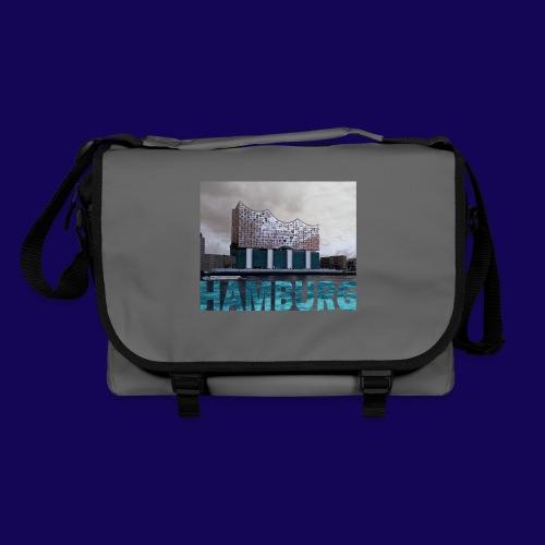 Elbphilharmonie   HAMBURG-Typo  Künstlermotiv - Umhängetasche