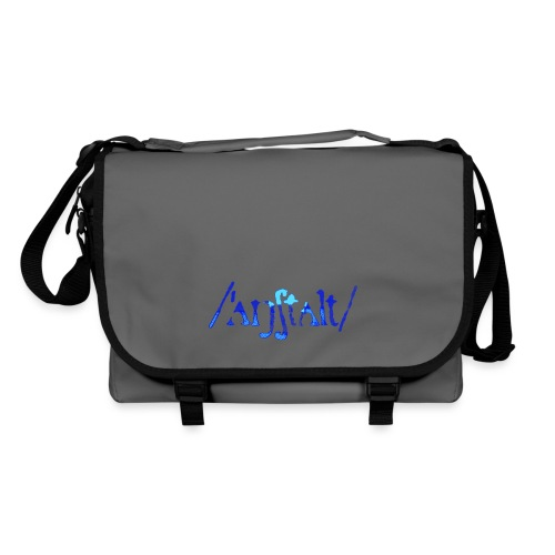 /'angstalt/ logo gerastert (blau/transparent) - Umhängetasche