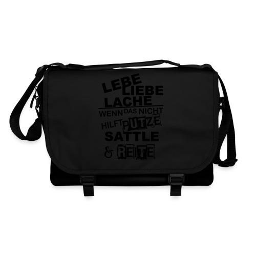 Lebe Liebe Lache Reite - Umhängetasche