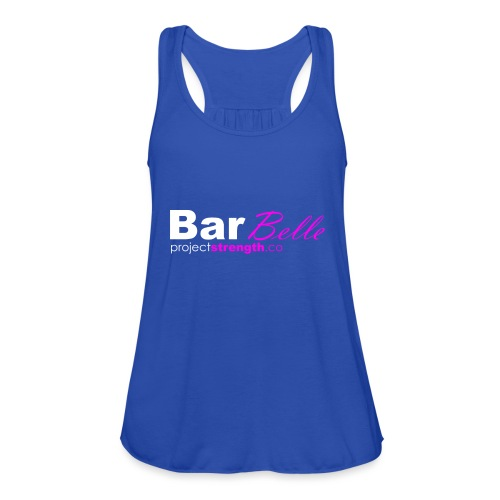 projectstrength.co - barbelle logo - white/pink - Featherweight Women's Tank Top