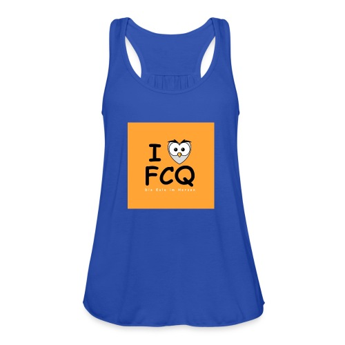 I Love FCQ button orange - Frauen Tank Top von Bella