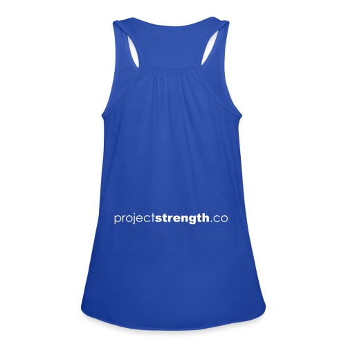 projectstrength.co - plain logo - white - Women's Tank Top by Bella