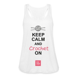Keep calm and Crochet on - Top da donna della marca Bella