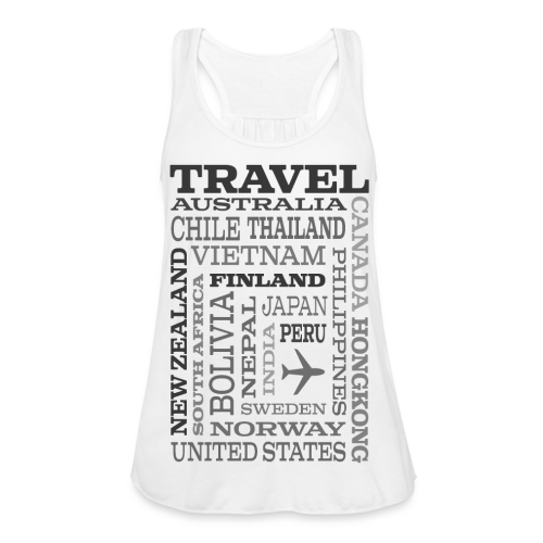 Travel Places Gray design - Naisten tankkitoppi Bellalta