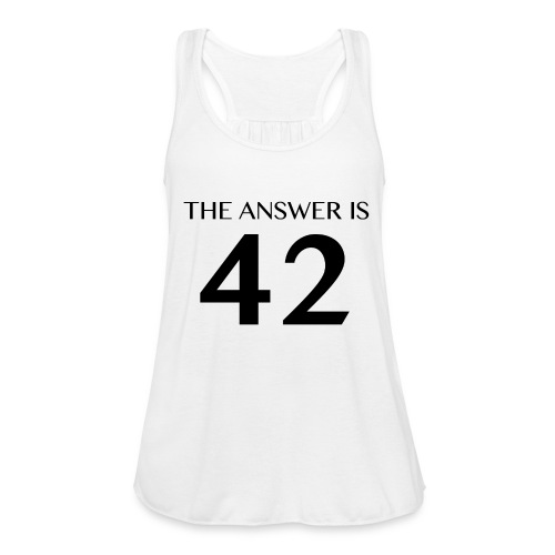 The Answer is 42 Black - Featherweight Women's Tank Top