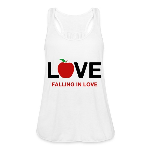 Falling in Love - Black - Women's Tank Top by Bella