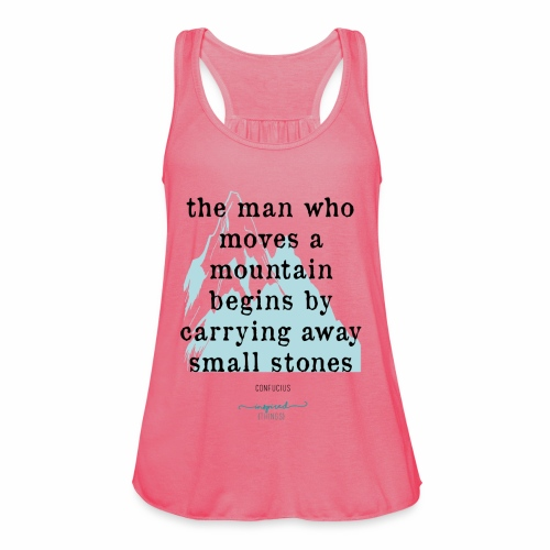 Confucius` Quote - The man who moves a mountain - Featherweight Women's Tank Top