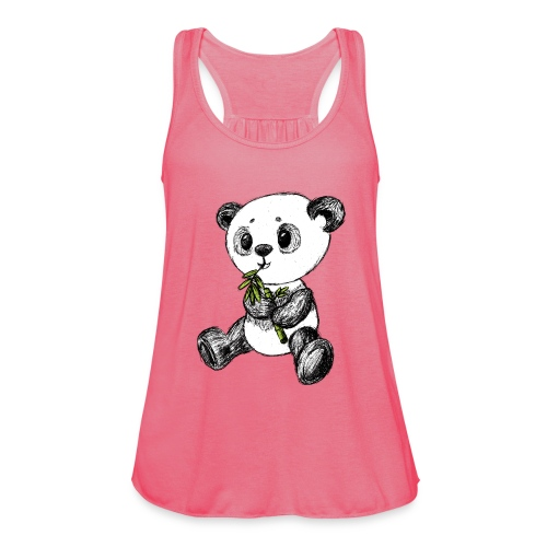 Panda bear colored scribblesirii - Women's Tank Top by Bella