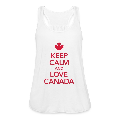 keep calm and love Canada Maple Leaf Kanada - Women's Tank Top by Bella