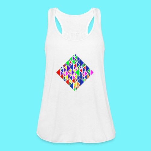 A square school of triangular coloured fish - Featherweight Women's Tank Top