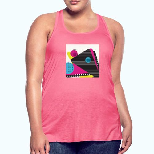 Abstract vintage shapes pink - Women's Tank Top by Bella
