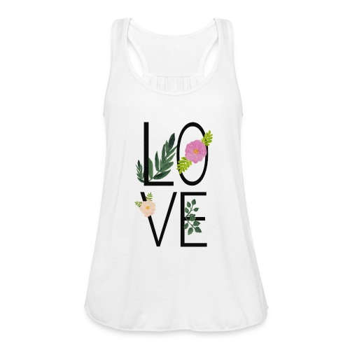 Love Sign with flowers - Women's Tank Top by Bella