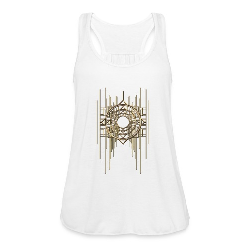 Abstract Geometry Gold Metal Art Deco Vintage - Featherweight Women's Tank Top